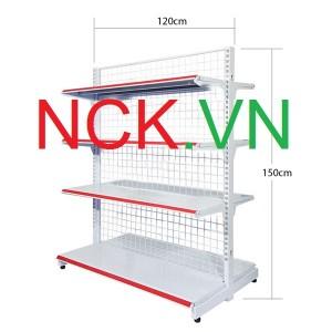 Giá kệ đôi siêu thị 120cm – 150cm