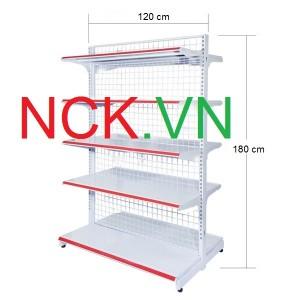 Giá kệ đôi siêu thị 120cm – 180cm