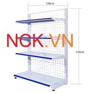 Giá kệ đơn siêu thị 120cm -150cm