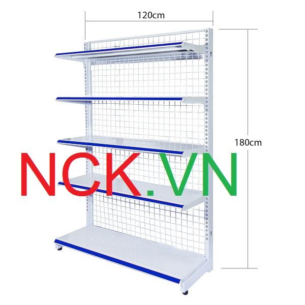 Giá kệ siêu thị đơn - 120 - 180cm
