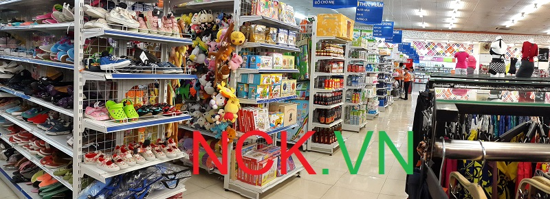 giá kệ siêu thị dùng bày bán hàng
